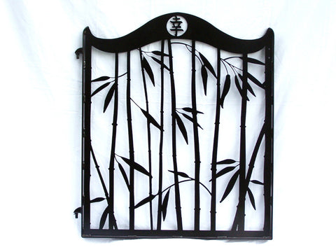 Custom Steel Bamboo Gate and Side Panels