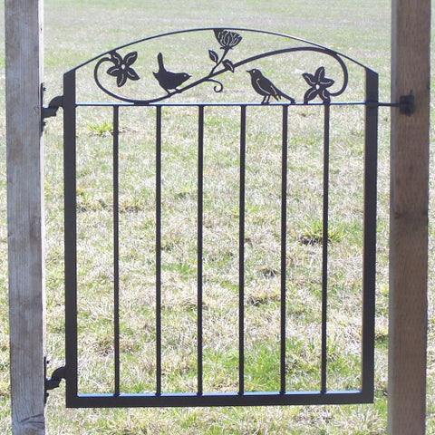 Custom Bird and Flowers Gate
