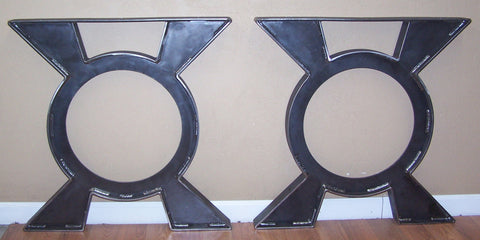 dining table legs heavy steel plate circle style