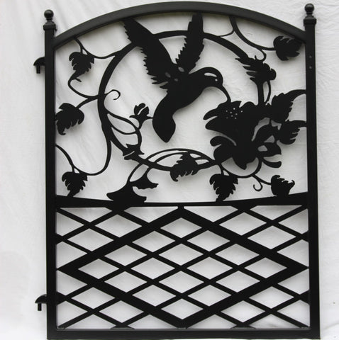 Custom Steel Hummingbird Gate in Black