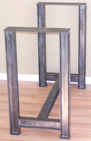 Custom steel I beam table base
