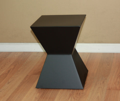 "End Table Pedestal 16"" Tall Powder Coated Steel"