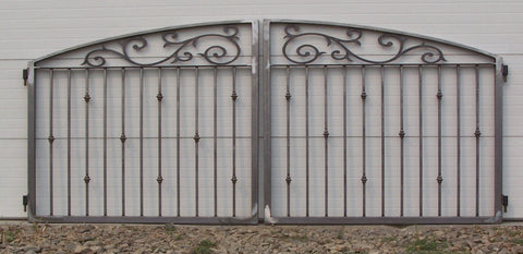 Custom Double Driveway Gate in Oil Rubbed Bronze Color