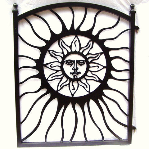 Garden Gate Aztec Sun Face South Western Metal Art Image 1