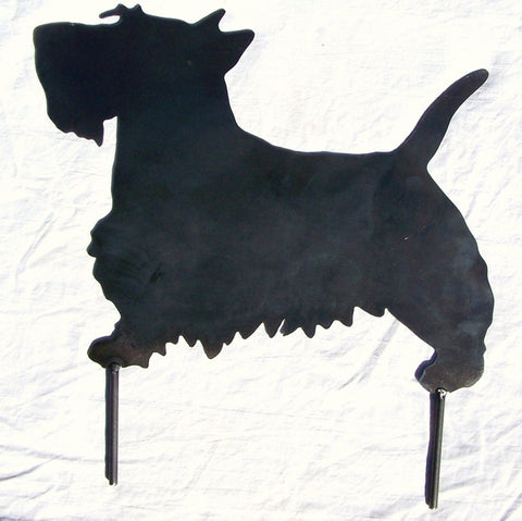Scotty Dog Scottish Terrier Metal Art Yard Decor Garden Stake Image 1