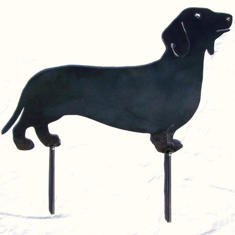 Dachshund Metal Art Dog Yard Decor Garden Stake Image 1