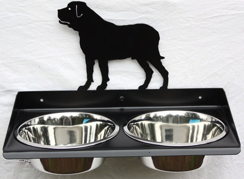 Elevated Dog Feeder for Mastiff. Wall Mount Design Image 1