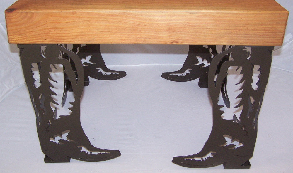 Metal Art Coffee Table Or Bench Legs Western Cowboy Boot Style Set Of 4  Image 1 ...