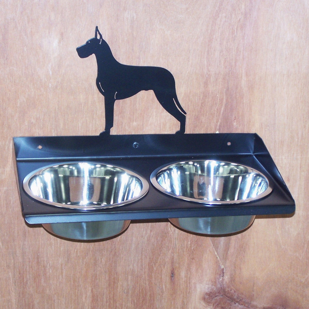 bow triple raised feeder elevated dog bowls artisan fdr muttropolis feeders bowl double dbl walnut