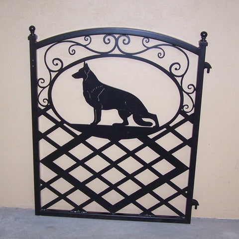 Dog Gate with German Shepherd Silhouette Image 1