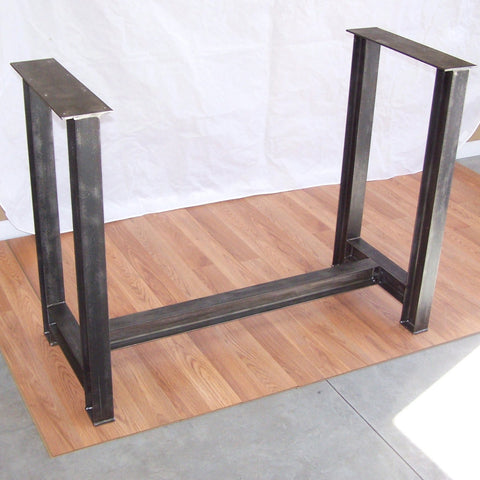 Industrial Steel I Beam Bar Base Kitchen Island Heavy Metal Iron Table Desk Legs Image 1