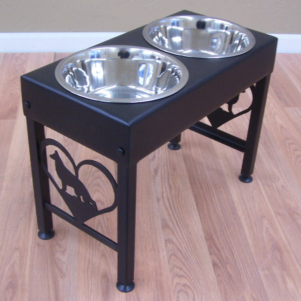 acaciamoothed com designer smoothed raised glamourmutt bowls bowl single p acacia dog boutique feeder