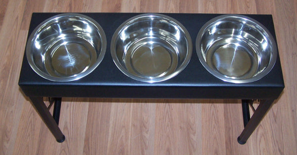 Great Dane Dog Feeder Elevated Raised Metal Art Floor