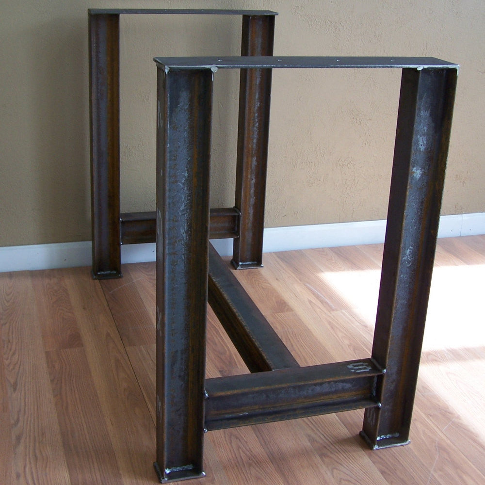 ... Industrial I Beam Kitchen Island Dining Table Bar Base Rustic Steel  Legs Image 4 ...