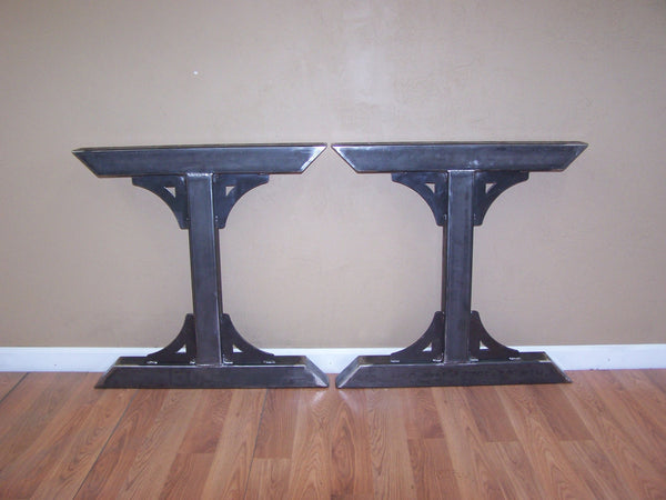 Industrial Factory Style Heavy Duty Steel Tube Legs Dining