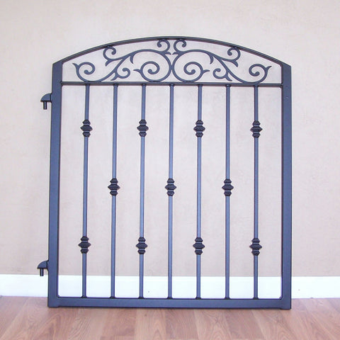 Ornamental Iron Garden Gate Metal Scroll Work Cast Iron Collars Image 1