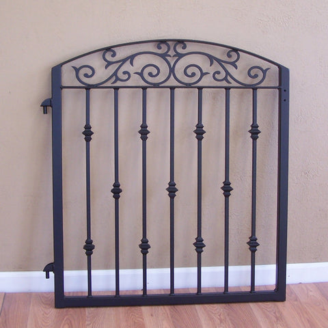 Custom gates for Walter powdercoated BK01 black