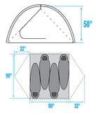 4 Person The North Face Tent layout
