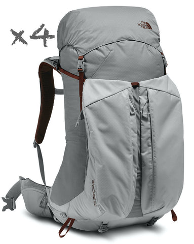46-Piece Backpacking Gear Rental Package For Four People