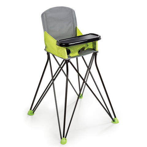 Portable folding high chair