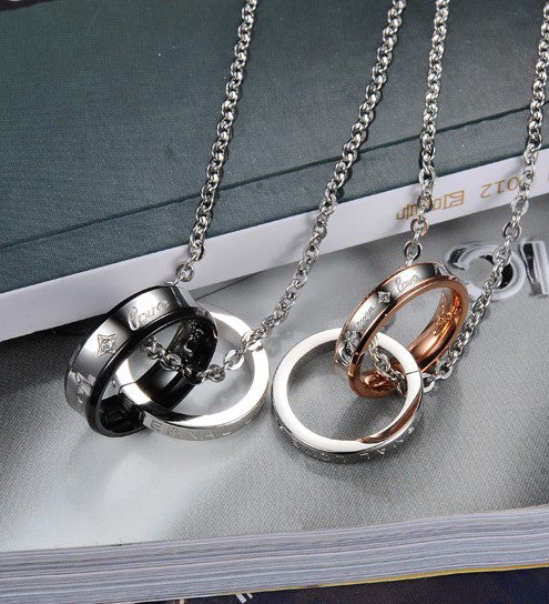 Eternal Love Rings Necklace