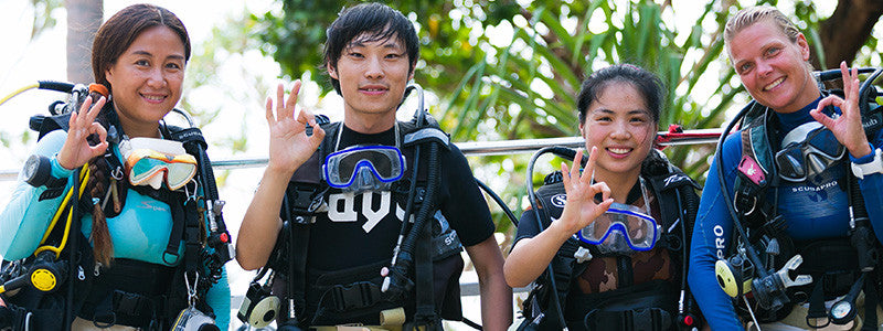 PADI certified Scuba diving instructors