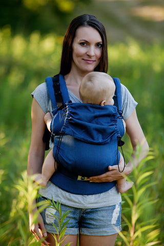 Little Frog Ergonomic Carrier - Navy Blue Herringbone