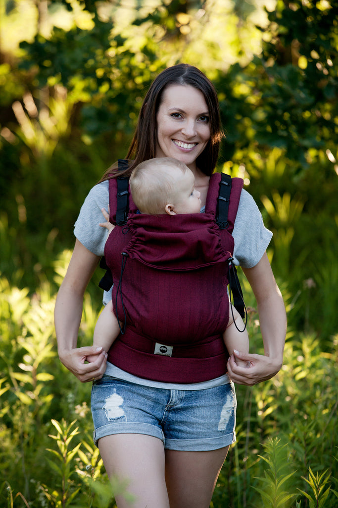 Little Frog Ergonomic Carrier - Ruby Herringbone