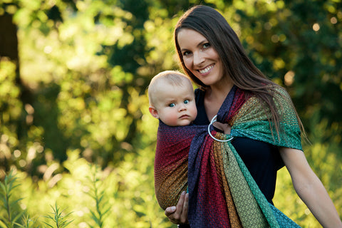 Little Frog Ring Sling - Lovely Black Rainbow