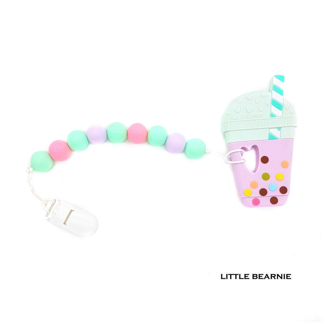 Little Bearnie - Bubble Tea Teether Clip Set (Taro)