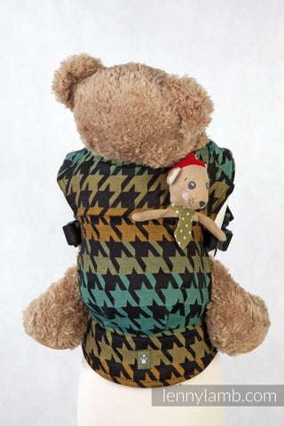 LennyLamb Doll Carrier - Pepitka Green & Yellow