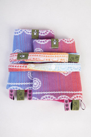 LennyLamb Drool Pads and Reach Straps - Rainbow Lace
