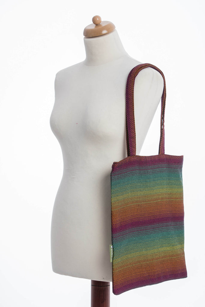 LennyLamb Shopping Bag - Little Herringbone Imagination Dark
