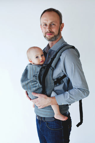 Little Frog Ergonomic Carrier - Graphite Herringbone