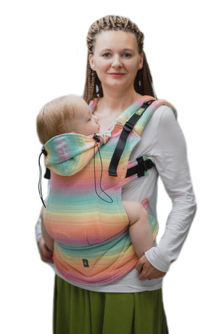LennyLamb Toddler Carrier - Little Herringbone Imagination