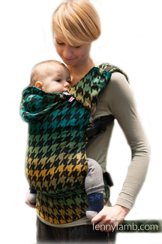 LennyLamb Toddler Carrier - Pepitka Green & Yellow