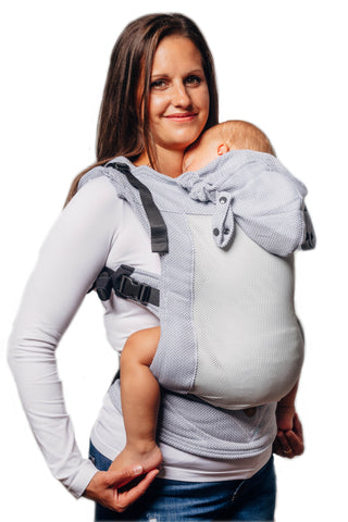 LennyGo Basic Line Ergonomic Mesh Carrier (Toddler) - Little Herringbone Grey