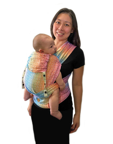LennyHybrid Half Buckle Carrier - Big Love Rainbow