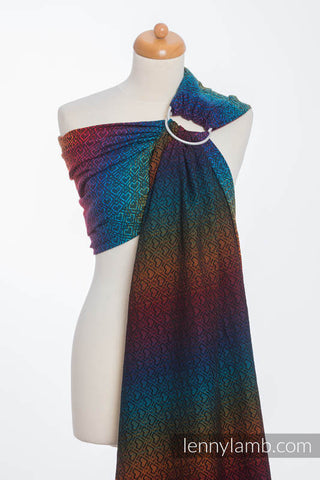LennyLamb Ring Sling - Jacquard Weave (100% cotton) - Big Love Rainbow Dark (pre-order)
