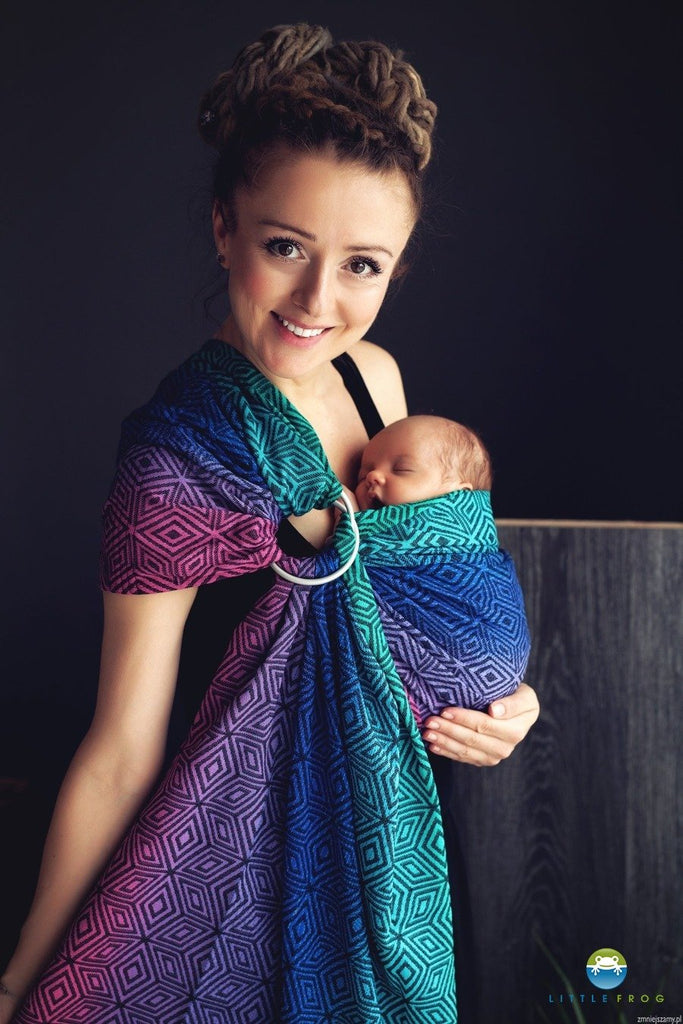 Little Frog Ring Sling - Dark Aurora Cube