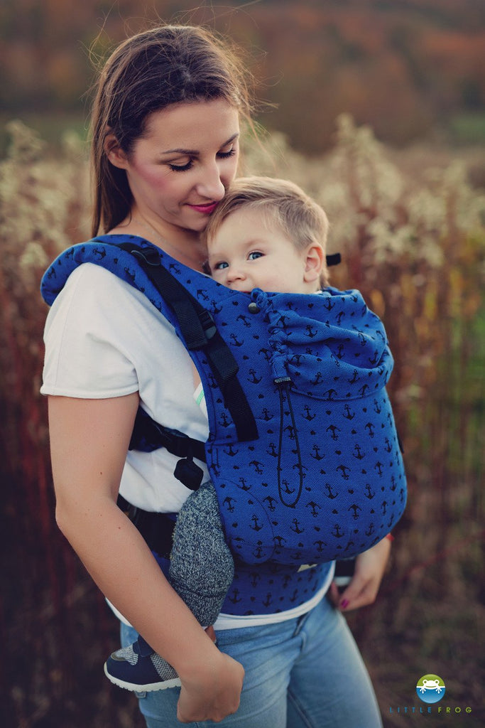 Little Frog Toddler Carrier - Navy Anchors