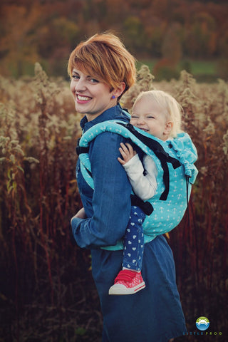 Little Frog Toddler Carrier - Turquoise Anchors