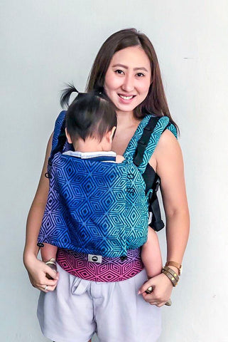 Little Frog Ergonomic Carrier - Dark Aurora Cube