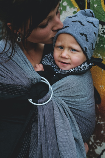 Little Frog Ring Sling - Obsidian