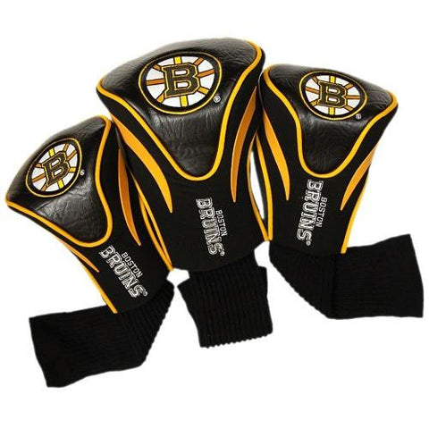 Boston Bruins 3 Pack Golf Contour Sock Headcovers