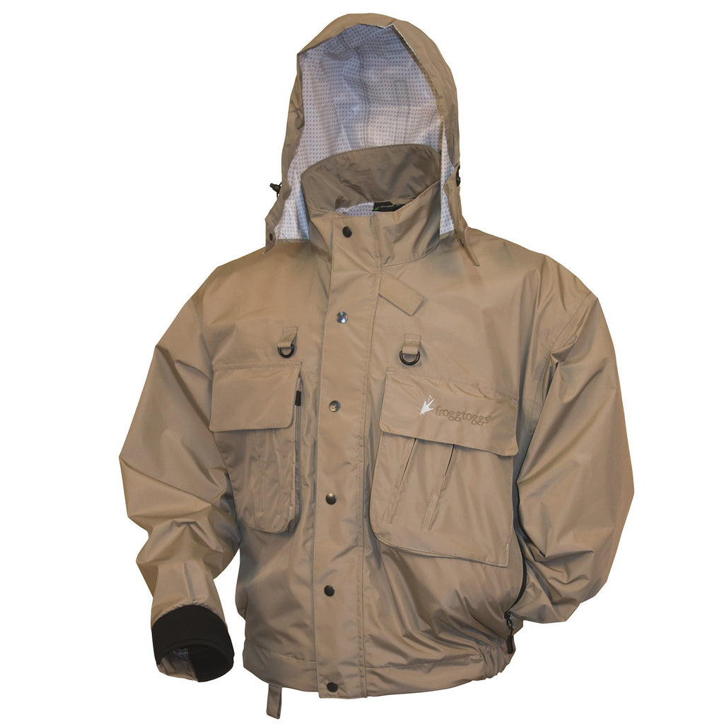 Frogg Toggs Hellbender Fly - Wading Jacket Stone - Large