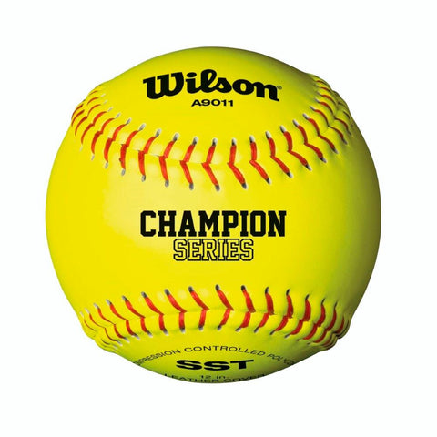 "Wilson A9011 12"" Optic Yellow Fastpitch Softball 12 Pack"