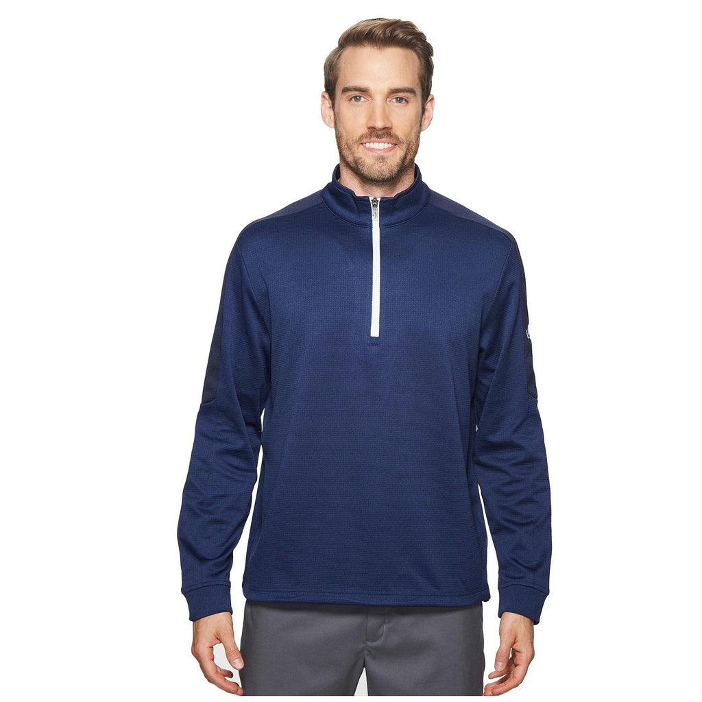 Callaway Heather WaffleFleece 1-4 Zip Midlayer Blueprint L
