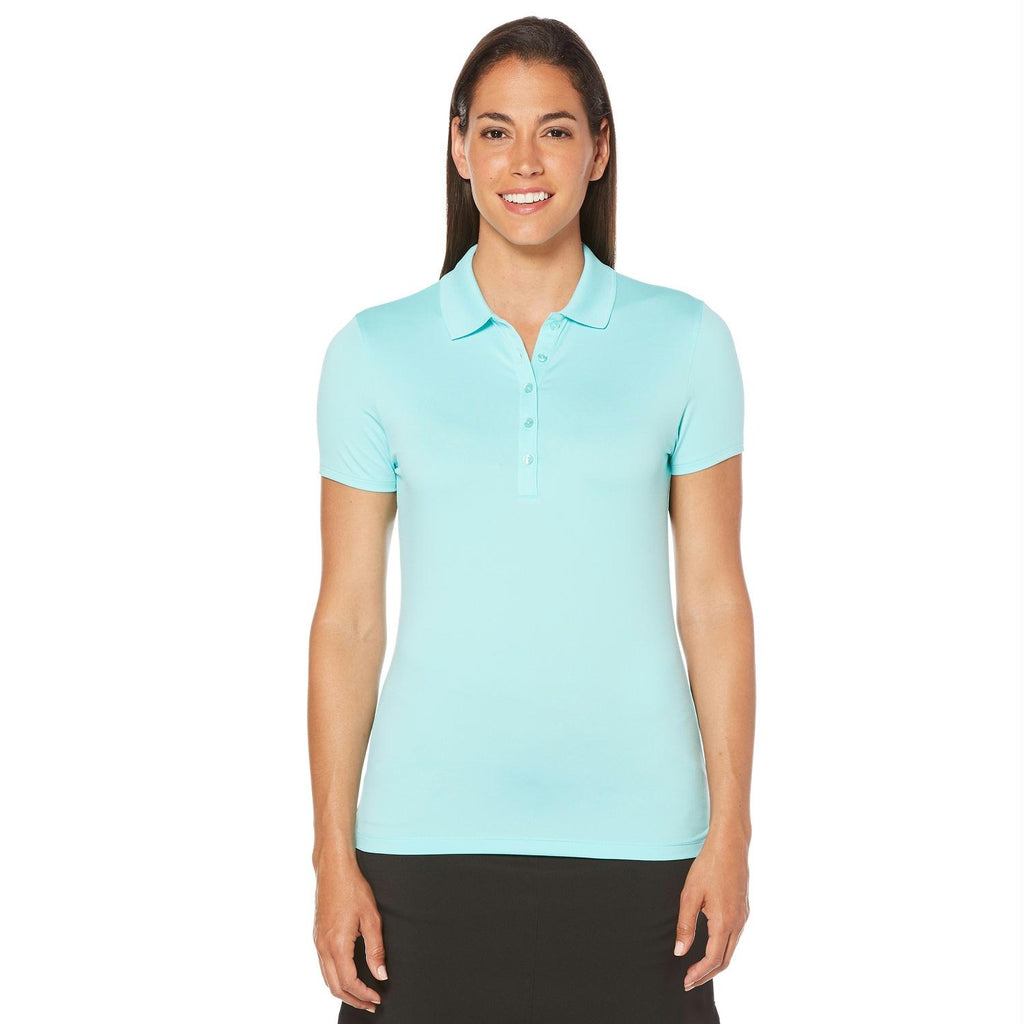 Callaway Opti-Dri Micro-Hex Short Sleeve Polo Blue L