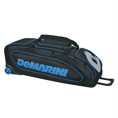DeMarini Special Ops Wheeled Bag Black-Hyper Blue